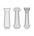 Stylized greek columns vector