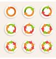 Circle arrow icon vector