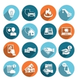 Pay bill icons flat set vector
