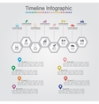 Timeline infographics with cell elements icons vector