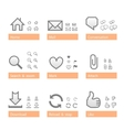 Universal software icon set web part vector