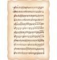 Vintage musical sheet vector