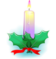 Candle light and leaf vector
