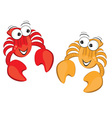 Two cartoon crabs vector