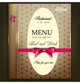 Restaurant menu design vintage template vector