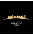 Orlando florida city skyline silhouette vector
