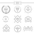 Premium quality line labels set vector