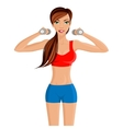Young sexy woman fitness vector