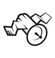 Communications satellite icon vector