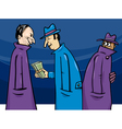 Crime or corruption cartoon vector