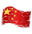 Grungy china flag vector