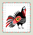 Turkey embroidery vector