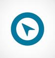 Arrow pointer bold blue border circle icon vector