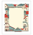 Frame made of houses vector