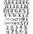 Retro fontface vector