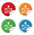 Mail receive icon envelope symbol get message vector