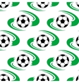 Soccer ball or football seamless pattern vector