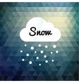 Retro styled winter cloud design card vector