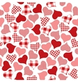 Checkered hearts pattern vector