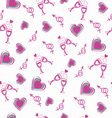 Valentines day romantic hearts seamless pattern vector