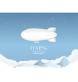 Airship travel background vector