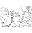 Forest animals for coloring vector