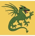 Green dragon coat of arms vector