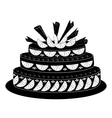 Holiday pie silhouette vector