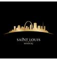 Saint louis missouri city skyline silhouette vector