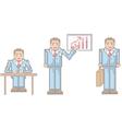Pixel businessman vector
