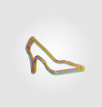 Colorful shoe background vector