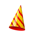 Party striped hat isolated on white background vector