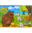Cartoon forest animals vector