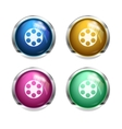 Glossy cinema buttons vector