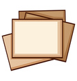 A simple coloured sketch of photo frames vector