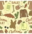 Autumn sale seamless pattern with season women vector
