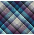 Paisley pattern on geometric background vector