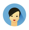 Girl with cute hair style vector