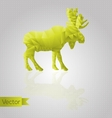 Abstract triangular moose vector