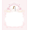 Elegant wedding invitation with happy wedding vector