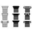 Column icons set vector