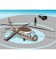 Business man and helicopter vector