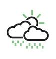 Sunny and rainy vector