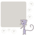 Background with blue cat vector