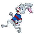 Funny rabbit running vector