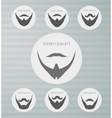Round icons beard with mustache vector