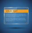 Glossy banner on blue vector