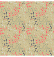 Seamless floral pattern with twigs and small vector