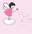 Fairy with magic wand vector