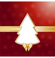 Red christmas tree background and border vector
